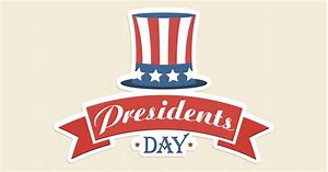 animated sign celebrating presidents day with a stars and stripes hat