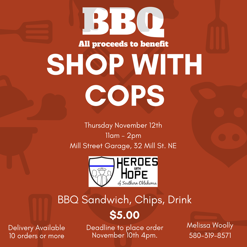 2020 shop with cop bbq