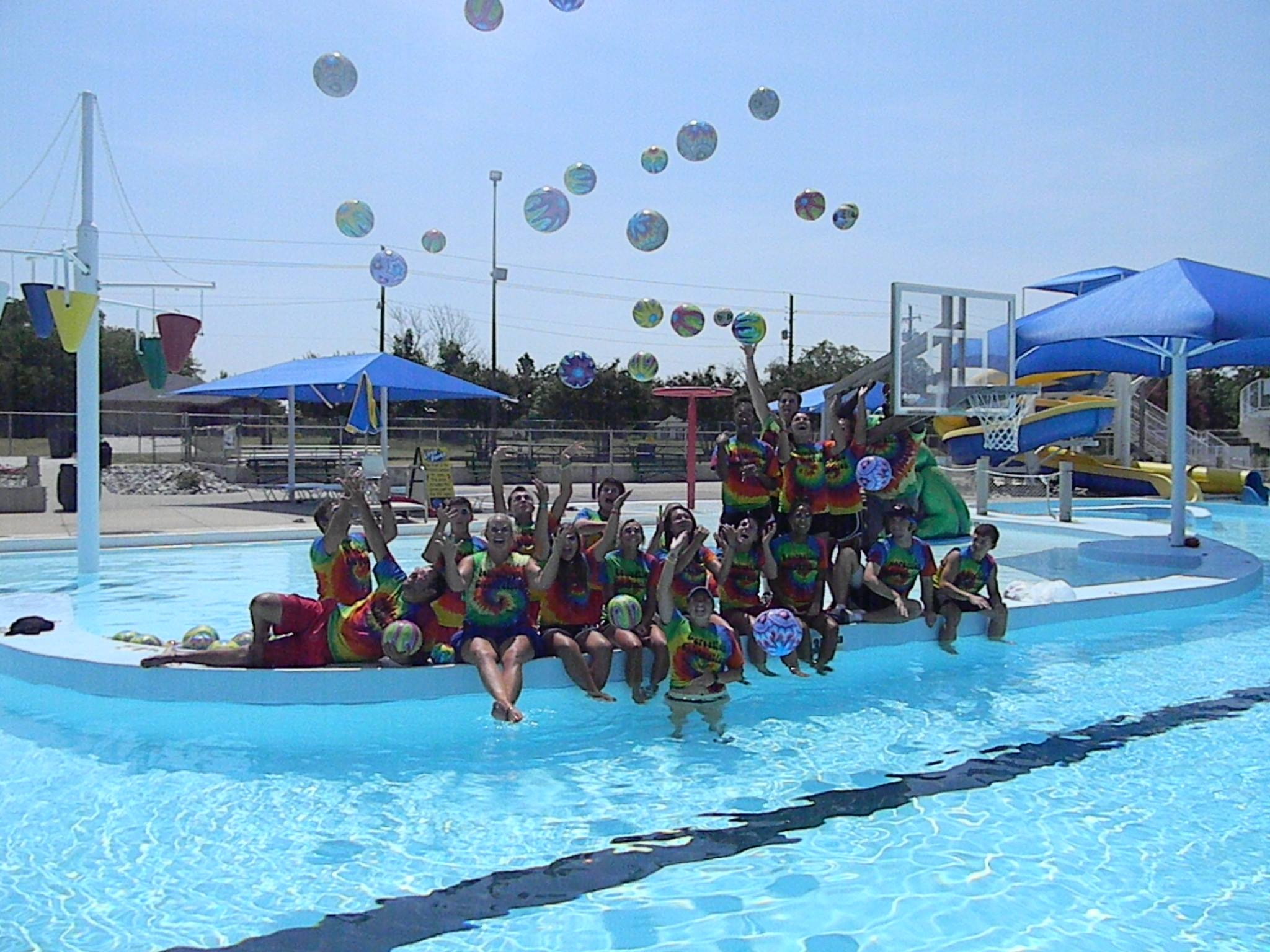 group photo of the lifeguards at the waterpark